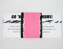 Zebra Print  |  Invitation